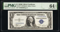 Small Size:Silver Certificates, Fr. 1611* $1 1935B Silver Certificate Star. PMG Choice Unc...