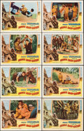 """Movie Posters:Adventure, Jungle Man-Eaters (Columbia, 1954). Overall: Very Fine. Lobby Card Set of 8 (11"""" X 14""""). Adventure.. ... (Total: 8 ..."""