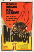 """Movie Posters:Science Fiction, Mothra (Columbia, 1962). Folded, Fine/Very Fine. One Sheet (27"""" X 41""""). Science Fiction.. ..."""