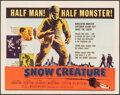 """Movie Posters:Science Fiction, The Snow Creature (United Artists, 1954). Folded, Fine/Very Fine. Half Sheet (22"""" X 28""""). Science Fiction.. ..."""