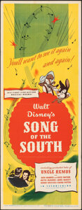 """Movie Posters:Animation, Song of the South (RKO, 1946). Folded, Very Fine-. Insert (14"""" X 36""""). Animation.. ..."""