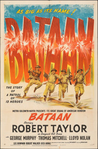 "Bataan (MGM, 1943). Folded, Fine/Very Fine. One Sheet (27"" X 41"") Style D. War"