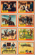 """Movie Posters:Western, The Horse Soldiers (United Artists, 1959). Very Fine-. Lobby Card Set of 8 (11"""" X 14""""). Western.. ... (Total: 8 Items)"""