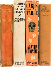 Agatha Christie. Group of Four First American Editions. New York: Dodd, Mead, 1922-1937. Two titles are in dust jacke