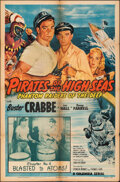"""Movie Posters:Serial, Pirates of the High Seas (Columbia, 1950). Folded, Overall Grade: Fine+. One Sheet (27"""" X 41"""") Chapter 4 & Lobby Card Set of... (Total: 5 Items)"""