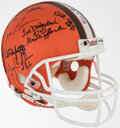 Football Collectibles:Helmets, 1964 Cleveland Browns Team Signed Helmet. ...