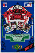 Baseball Cards:Singles (1970-Now), 1989 Upper Deck Baseball Low Number Series Wax Box - Griffey Jr. Rookie Year!...