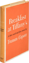 Books:Signed Editions, Truman Capote. Breakfast at Tiffany's. A short novel and three stories. New York: Random House, [1958]. First ed...
