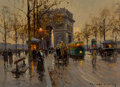 Paintings, Edouard-Léon Cortès (French, 1882-1969). Avenue Friedland. Oil on canvas. 13 x 18 inches (33.0 x 45.7 cm). Signed lower ...