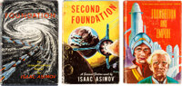 Isaac Asimov. The Original Foundation Trilogy. New York: Gnome Press, [1951]-[1953]. First editions, first state bind
