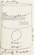 Books:Signed Editions, Andy Warhol. The Philosophy of Andy Warhol. ...