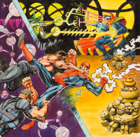 """Frank Miller and P. Craig Russell Marvel Team-Up Portfolio Set Two """"To Win the Wand of Wattomb"""" Illustration O..."""