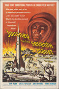 """Movie Posters:Science Fiction, Journey to the Seventh Planet (American International, 1961). Folded, Fine+. One Sheet (27"""" X 41""""). Science Fiction.. ..."""