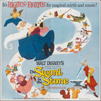 """The Sword in the Stone (Buena Vista, 1963). Folded, Very Fine. Six Sheet (84"""" X 83.5""""). Animation"""