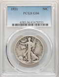 1921 50C Good 6 PCGS. PCGS Population: (493/1520). NGC Census: (266/958). CDN: $110 Whsle. Bid for NGC/PCGS Good 6 . Min...