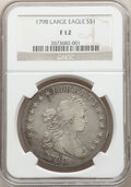 1798 $1 Large Eagle, Pointed 9 Fine 12 NGC. NGC Census: (49/971). PCGS Population: (119/1893). CDN: $1,200 Whsle. Bid fo...