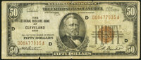 Fr. 1880-D $50 1929 Federal Reserve Bank Note. Very Fine