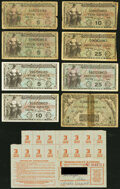 MPC and World War 2 Ration Items. Series 481 5¢ (3); 10¢ (2); 25¢ (2); $1 Very Good or Better; Gasoline N...
