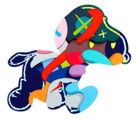 KAWS (b. 1974) Stay Steady, 2015 Silkscreen in colors on Saunders Waterford white paper 29-1/4 x