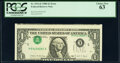 Error Notes:Inverted Third Printings, Inverted Third Printing Error Fr. 1914-E $1 1988 Federal Reserve Note. PCGS Choice New 63.. ...