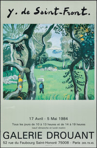 """Yves Saint-Front (Galerie Drouant, 1984). Rolled, Very Fine-. French Exhibition Poster (17"""" X 26"""") Yves Saint-..."""