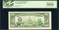Error Notes:Inverted Third Printings, Third Printing on Back Error Fr. 2123-G $50 1988 Federal Reserve Note. PCGS Choice About New 55PPQ.. ...