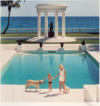 Slim Aarons (American, 1916-2006) The Good Life: C.Z. Guest and her son Alexander at Villa Artemis, Palm Beach, 1955 D...