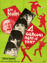 """A Hard Day's Night (United Artists, 1964). Folded, Very Fine. Full Bleed French Grande (45.5"""" X 61.5"""")"""