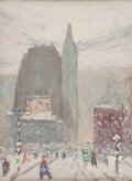 Paintings, Johann Berthelsen (American, 1883-1972). New York City. Oil on canvasboard. 12 x 9 inches (30.5 x 22.9 cm). Signed lower...