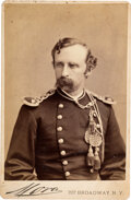 Photography:Daguerreotypes, George Armstrong Custer: Cabinet Card by Mora....