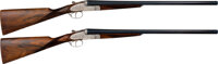 Cased and Engraved Spanish Arrieta Double Barrel Shotguns