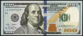 Small Size:Federal Reserve Notes, Low Serial Number 7253 Fr. 2187-A* $100 2009A Federal Rese...