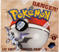 Memorabilia:Trading Cards, Pokémon First Edition Fossil Set Sealed Booster Box (Wizards of the Coast, 1999)....