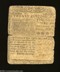 Colonial Notes:Delaware, Delaware May 1, 1758 20s Fine. Unlike the vast majority of ...