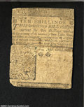 Colonial Notes:Delaware, Delaware June 1, 1759 10s Very Fine. Tape reinforced along ...
