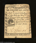 Colonial Notes:Massachusetts, Massachusetts 1779 1s6d Very Fine. Trimmed in rather ...