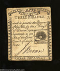 Colonial Notes:Massachusetts, Massachusetts 1779 3s Extremely Fine. A very well printed, ...