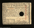Colonial Notes:Massachusetts, Massachusetts May 5, 1780 $20 Crisp Uncirculated, POC. ...