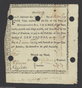 Colonial Notes:Massachusetts, State of Massachusetts Bay Feb. 19, 1777 10 Pounds 6%, Very ...