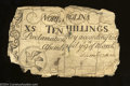 Colonial Notes:North Carolina, North Carolina March 9, 1754 10s Very Good.On the surface ...