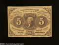 Fractional Currency:First Issue, Fr. 1230 5c First Issue Gem Crisp Uncirculated.This is an ...