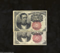 Fractional Currency:Fifth Issue, Fr. 1266 10c Fifth Issue Two Examples XF, aging and AU, ... (2notes)