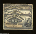 Canadian Currency: , Three Canadian Fractionals. Three Jan. 2, 1900 25 cent ... (3notes)