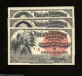 Miscellaneous:Other, Three World's Columbian Overprint A Exposition Tickets ... (3items)