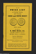 Miscellaneous:Other, B. Max Mehl Co. Price List No. 84, 1961. Mehl died in 1957 ...