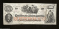 Confederate Notes:1862 Issues, T41 $100 1862. This is a Scroll 1 variety printed on CSA ...