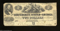 Confederate Notes:1862 Issues, T42 $2 1862. Even wear is found on this $2. Fine.