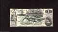 Confederate Notes:1862 Issues, T45 $1 1862. A hint of handling and a pinhole in Ms. ...