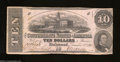 Confederate Notes:1862 Issues, T52 $10 1862. This Series 4 $10 has some light soiling, ...