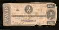 Confederate Notes:1862 Issues, T54 $2 1862. Some furling and an edge notch are found on ...